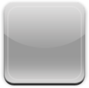 clip art black and white Glass App Button Gray