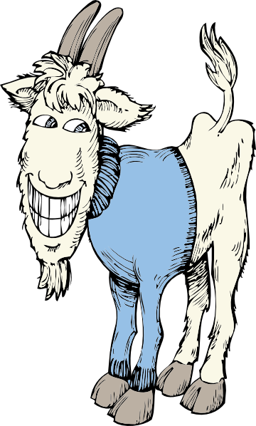 picture freeuse download Goat In A Sweater Clip Art at Clker