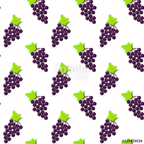 picture transparent library Grapes vector flat seamless pattern