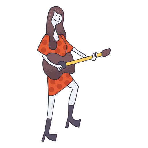 clipart library stock Acoustic guitar player cartoon