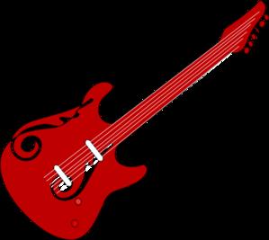 svg free download Red Guitar Clip Art at Clker