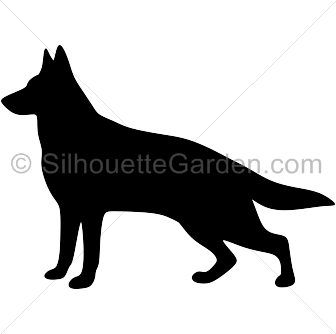 clip library stock German Shepherd silhouette clip art