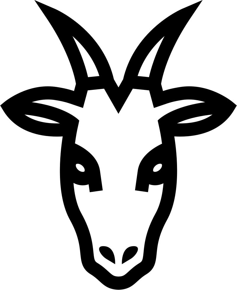 jpg stock vector goat head #118118754
