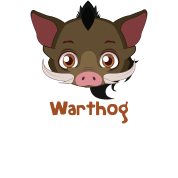 clipart transparent stock Warthog Head Cartoon by UnicornDesign