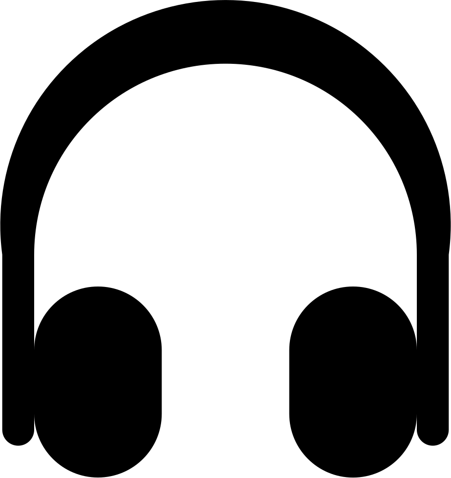 freeuse library Headphones Black Shape Svg Png Icon Free Download
