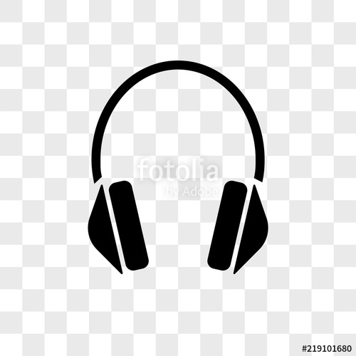 jpg Headphones vector icon on transparent background