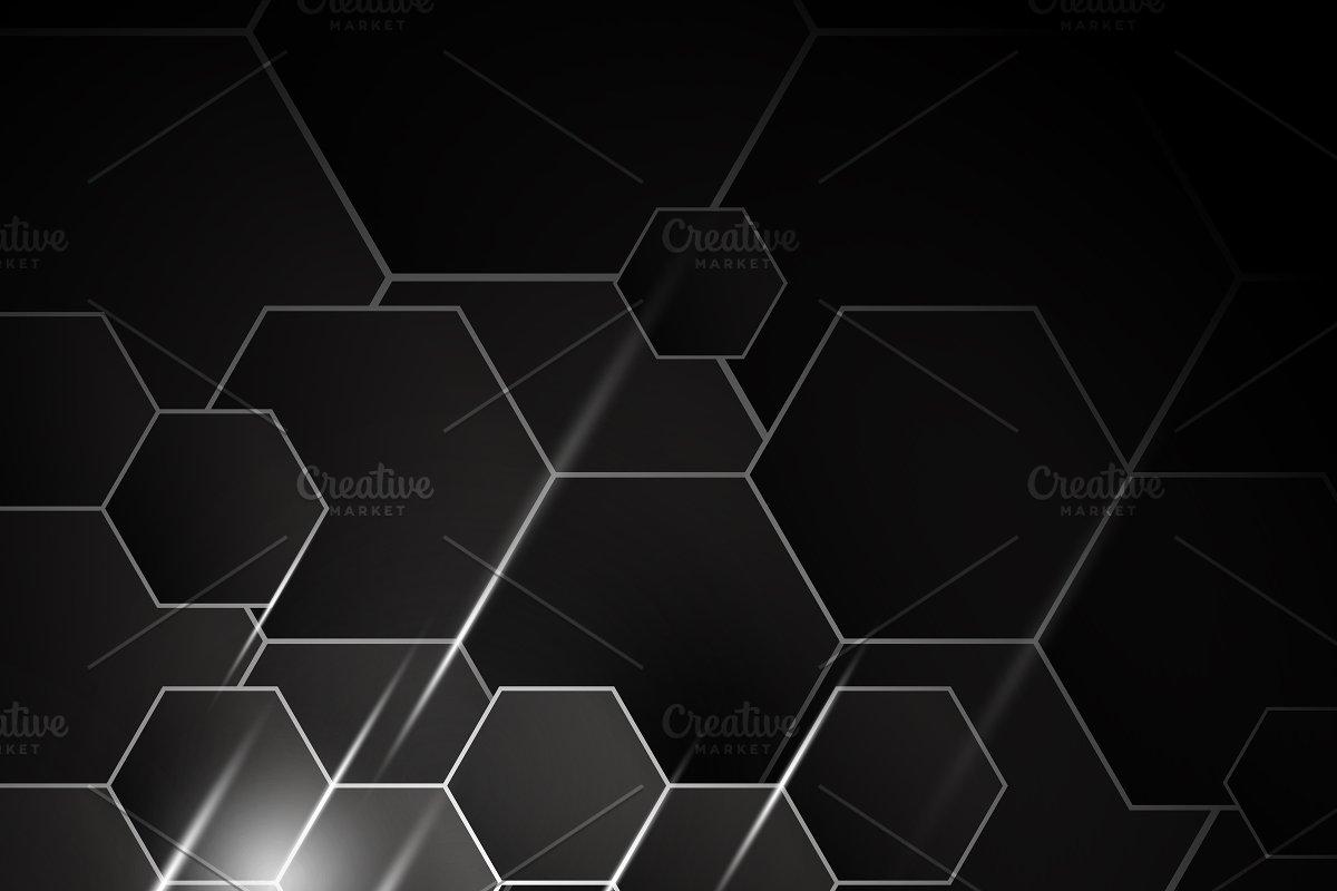 clip free library Background design . Vector hexagon.