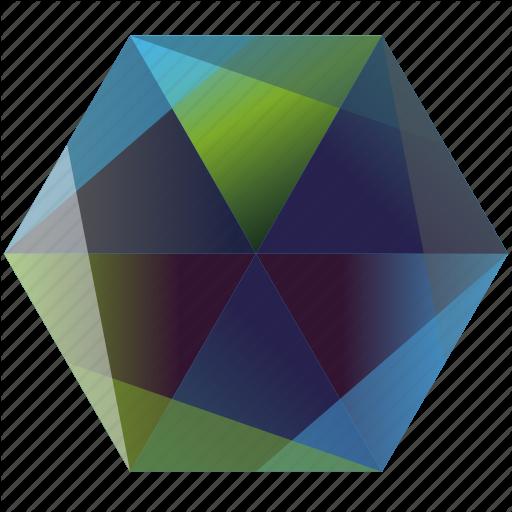 svg black and white Gemstone Hexagon Icon Base