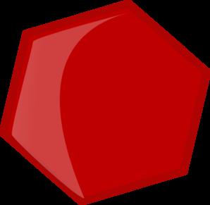 clip art library Hexagon Red Clip Art at Clker