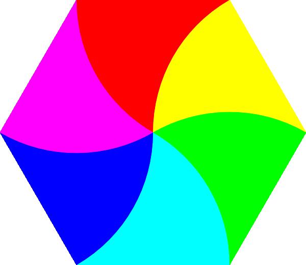 svg stock Swirly Hexagon