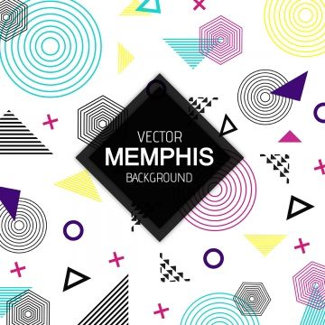 free library Vector hexagon modern. Colorful memphis pattern background.