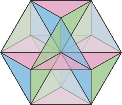 transparent stock vector hexagon symmetrical #107964948