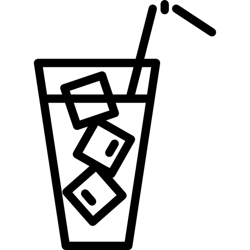 png black and white stock Ice Cold Drink