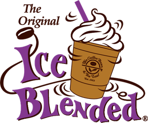 jpg royalty free download Ice blended drink logo. Vector coffee iced