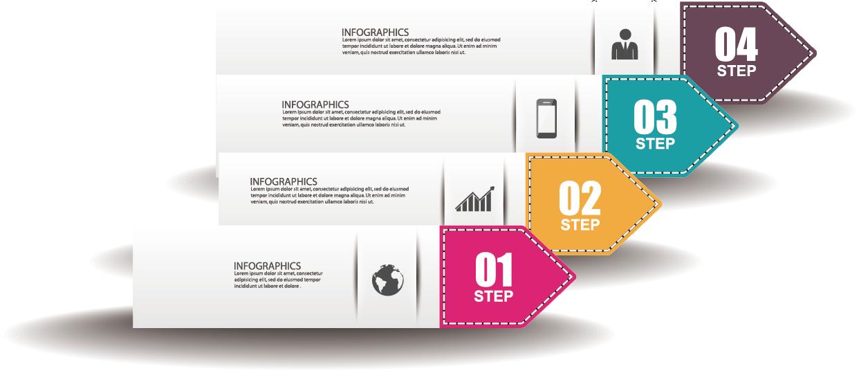jpg freeuse stock Infographic flowchart flow transprent. Vector chart digital