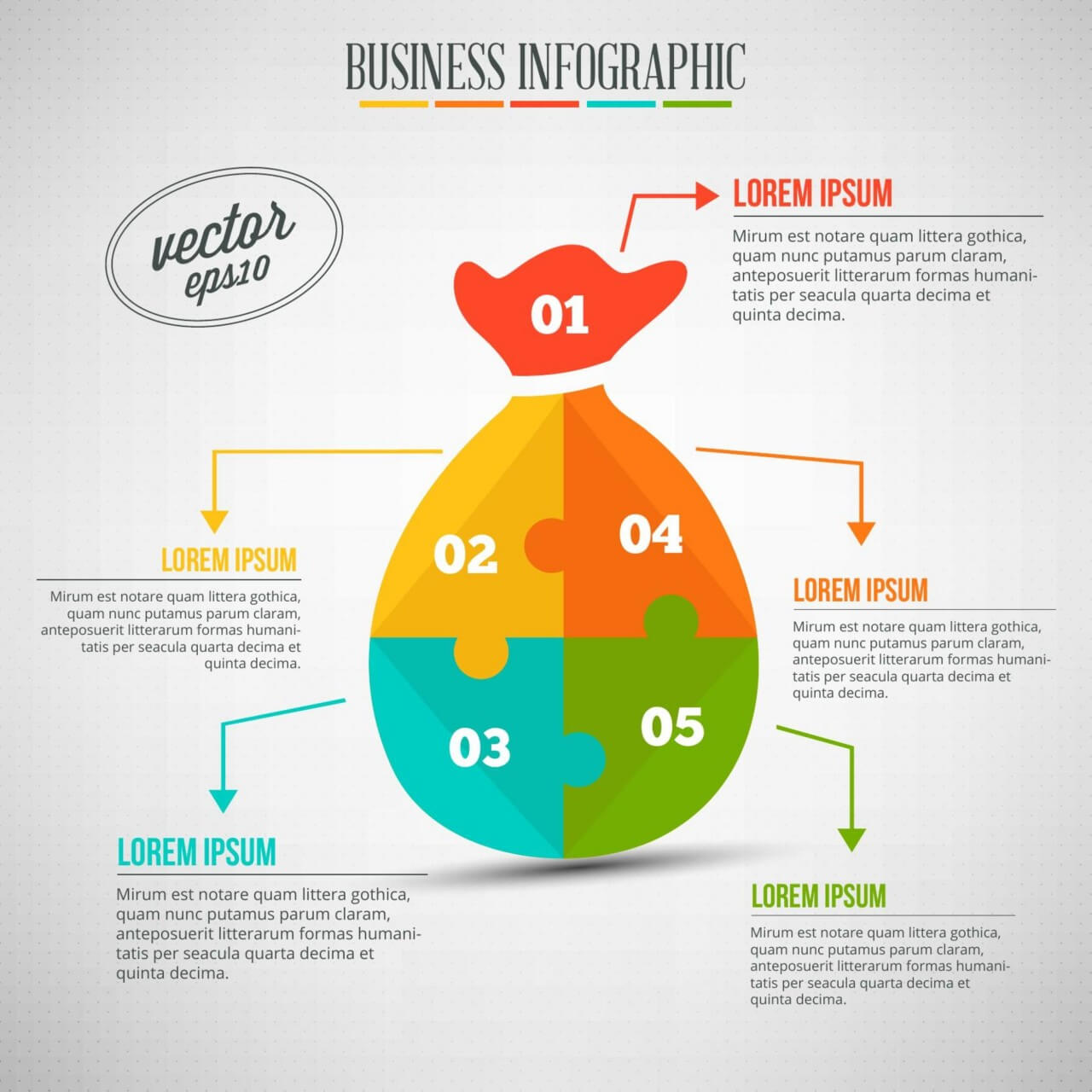 freeuse Vector business puzzle. Free infographic of a