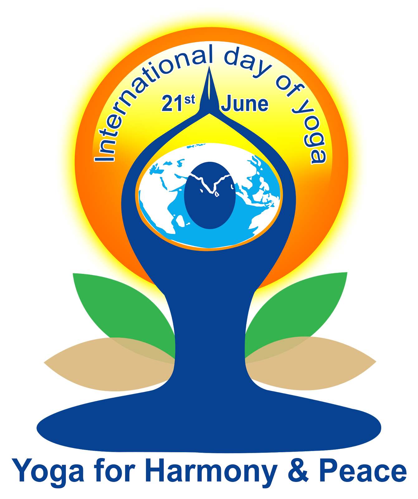 graphic royalty free download Vector international. World yoga day psd.