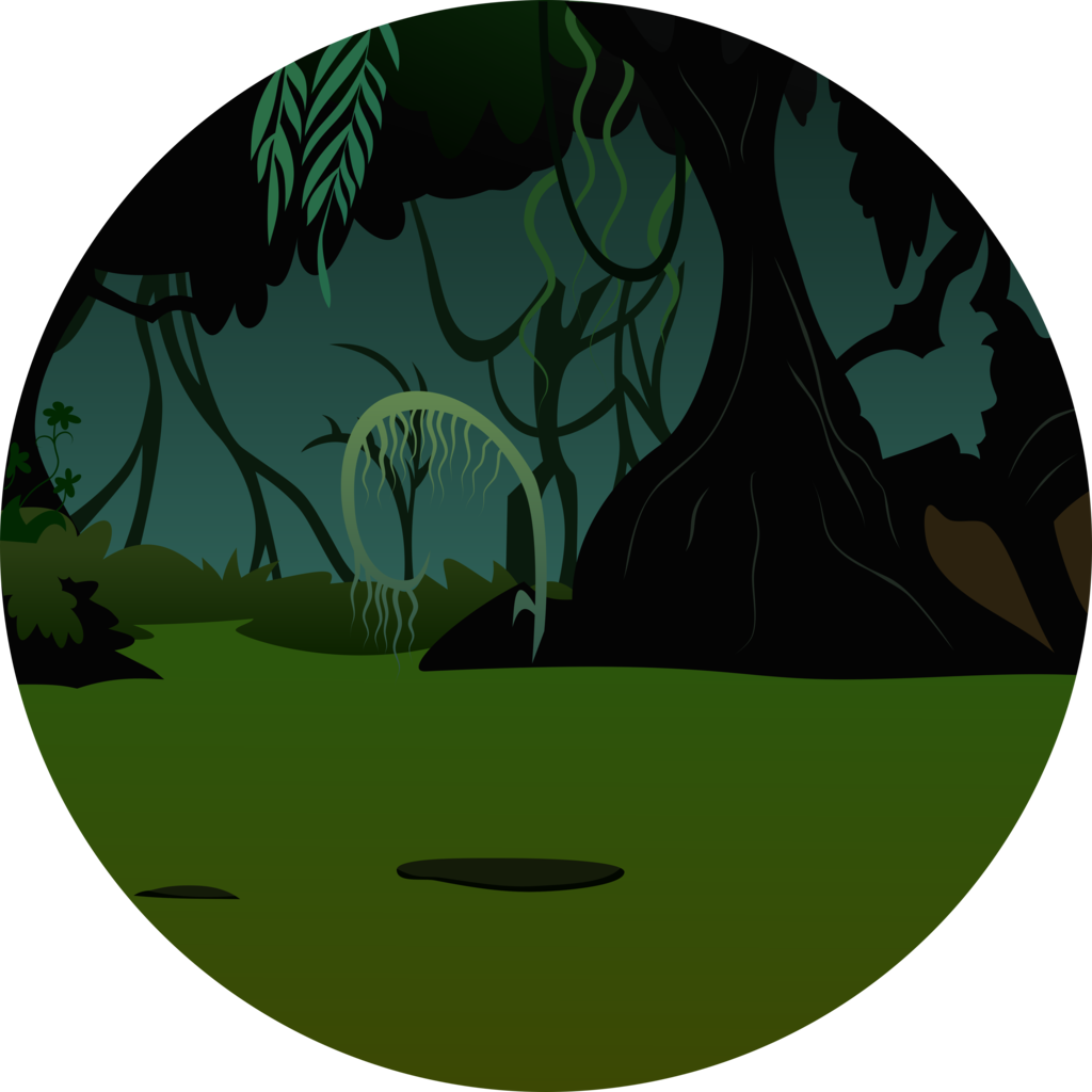 image library library vector jungle circle #118189551