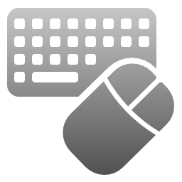svg transparent stock Keyboard and Mouse Settings Icon