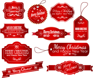 picture free stock Vector labels. Christmas logo ai free