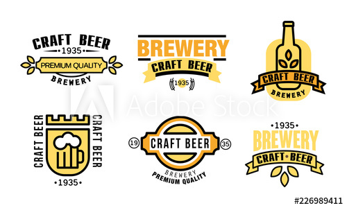 vector freeuse download Beer premium quality logo. Vector labels craft