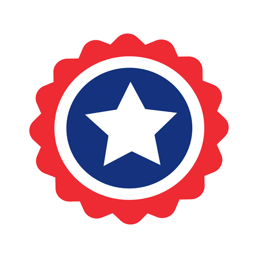 clipart stock Round star usa flag label