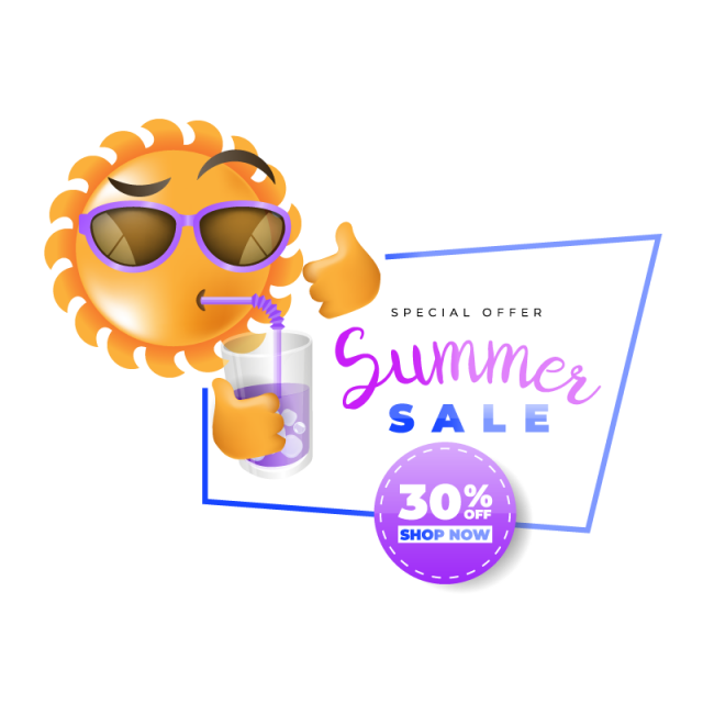vector black and white Summer sale label promotional. Vector labels promotion