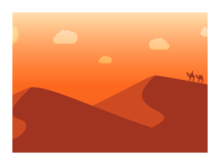 picture transparent library Vector landscapes.  illustration courses tutorials