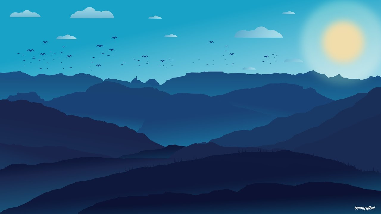 vector transparent Vector landscapes. Landscape speedart adobe illustrator