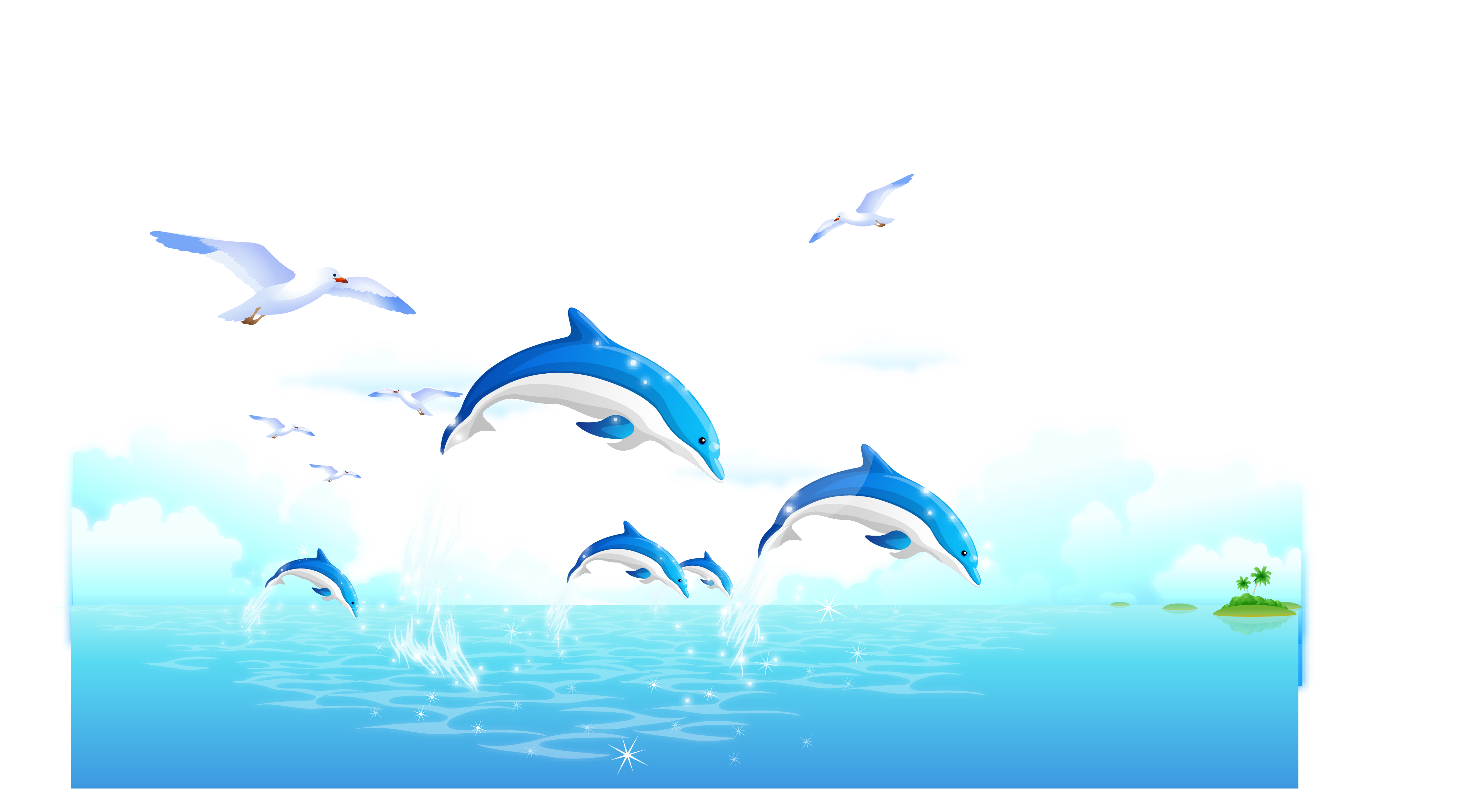 freeuse download Vector blue landscape. Dolphin whale wallpaper fresh