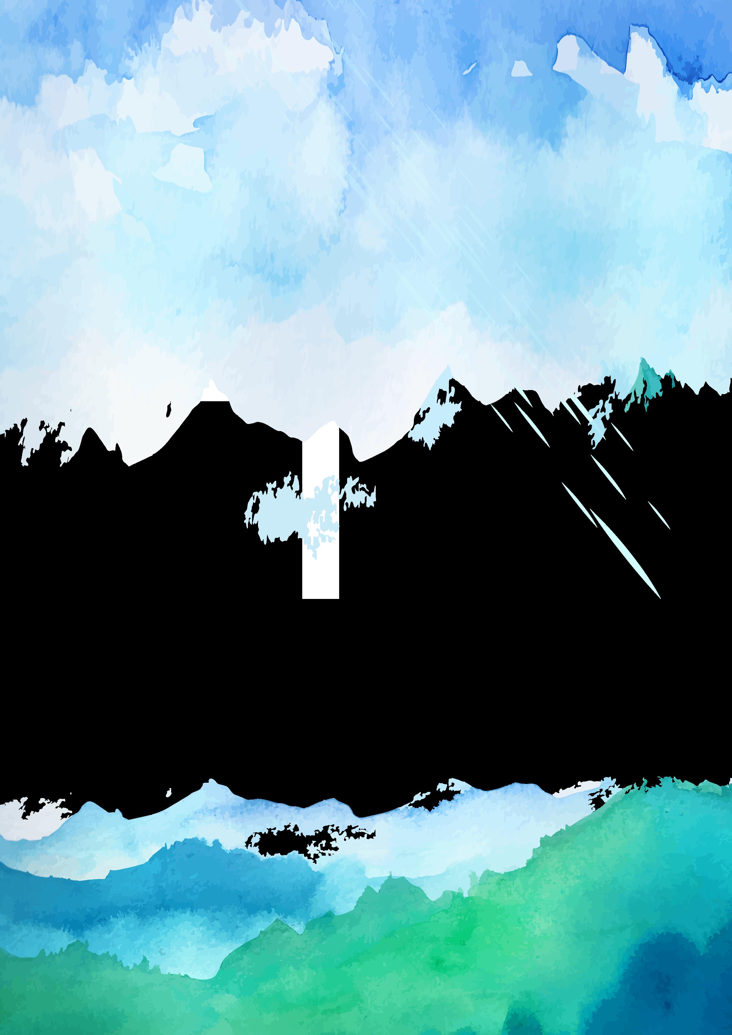 picture royalty free download Sky cartoon cloud transprent. Vector blue landscape