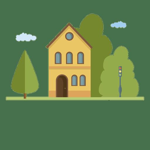 clipart freeuse Building city houseflat landscape home