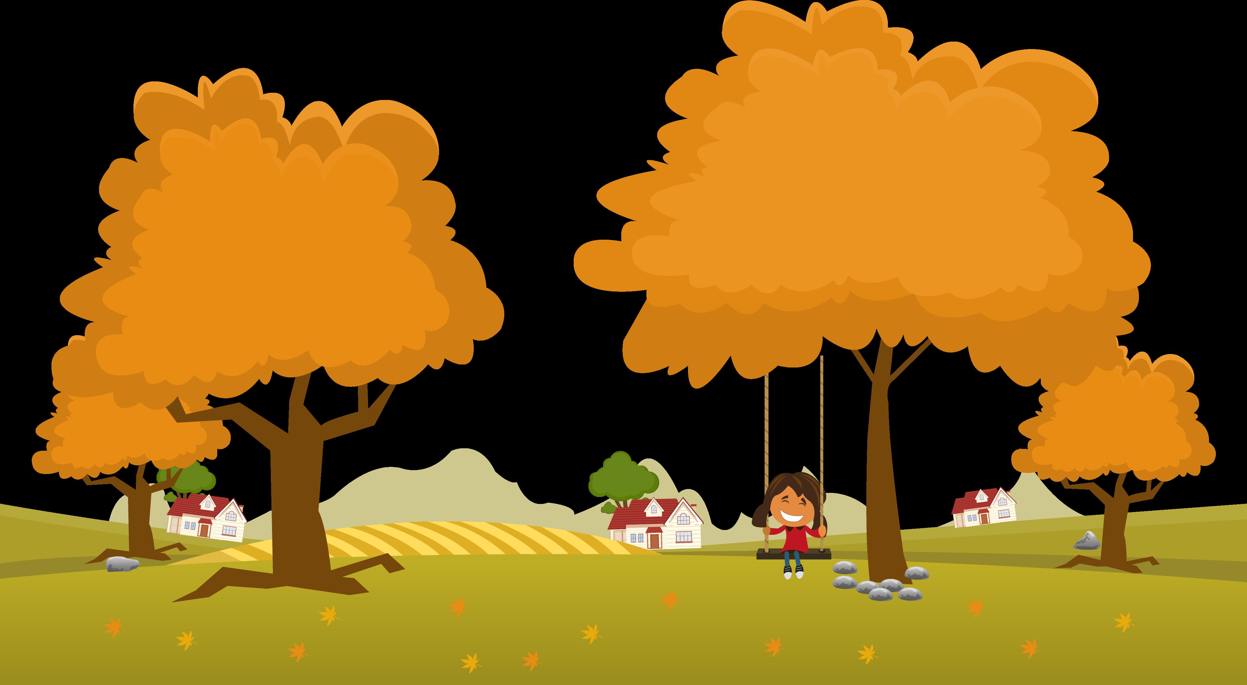 image transparent download Landscape Adobe Illustrator Autumn Illustration