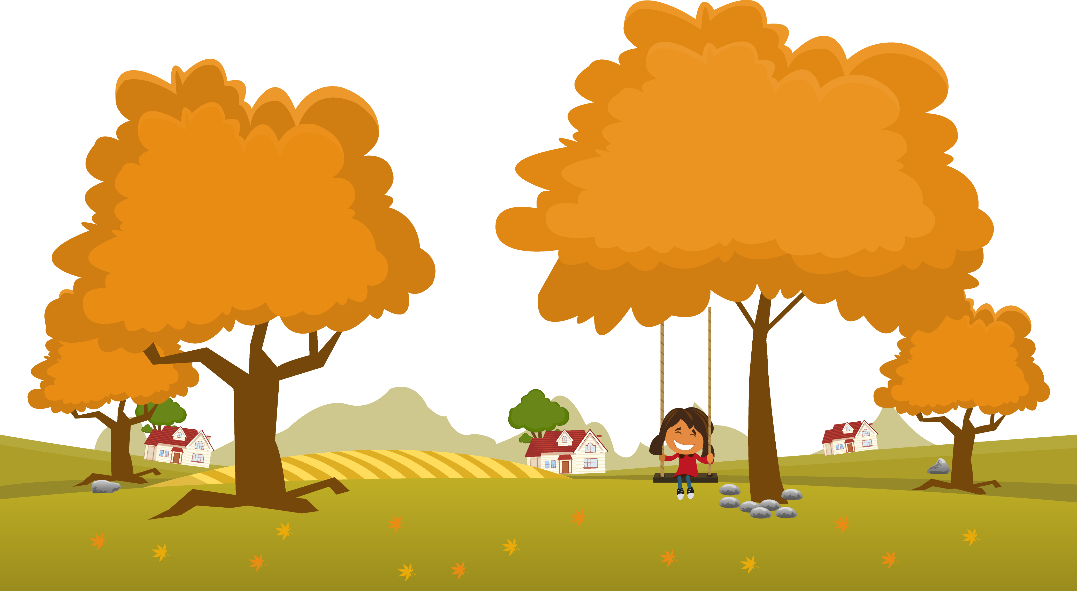 clipart library stock Landscape adobe autumn illustration. Vector landscapes illustrator