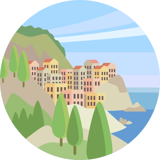 transparent library village vector scenery #108855914
