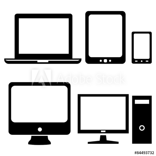 vector library download Vector Set of Digital Devices Icons