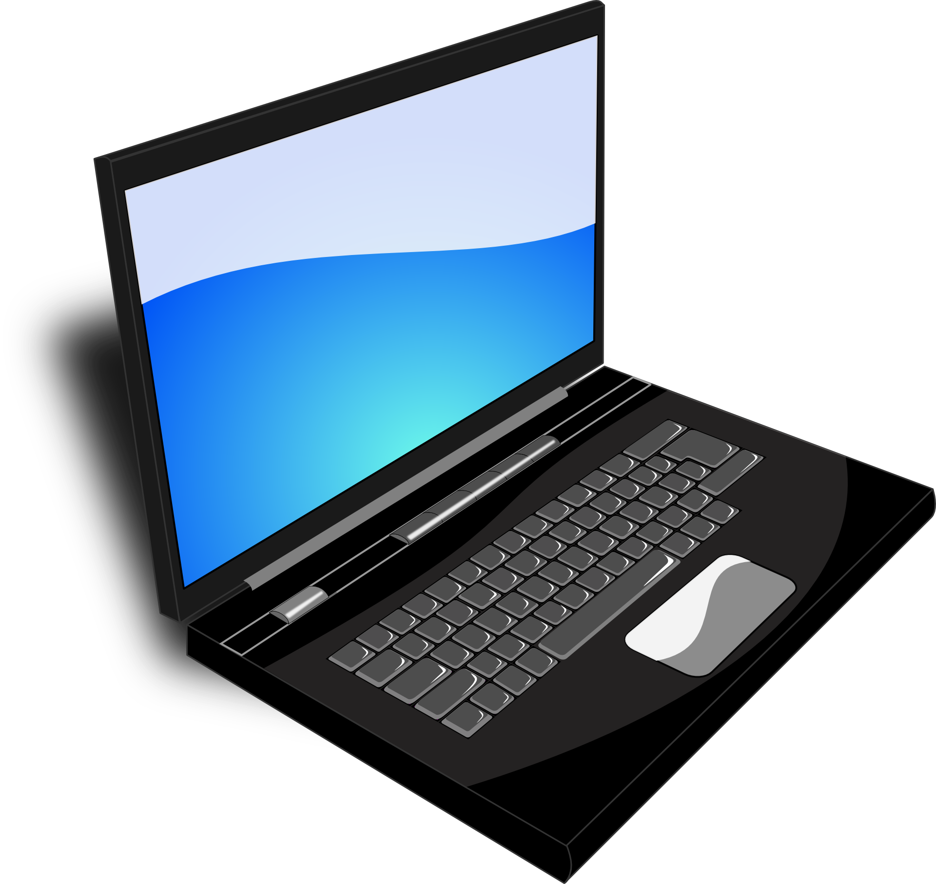 picture library library Laptop Vector Image