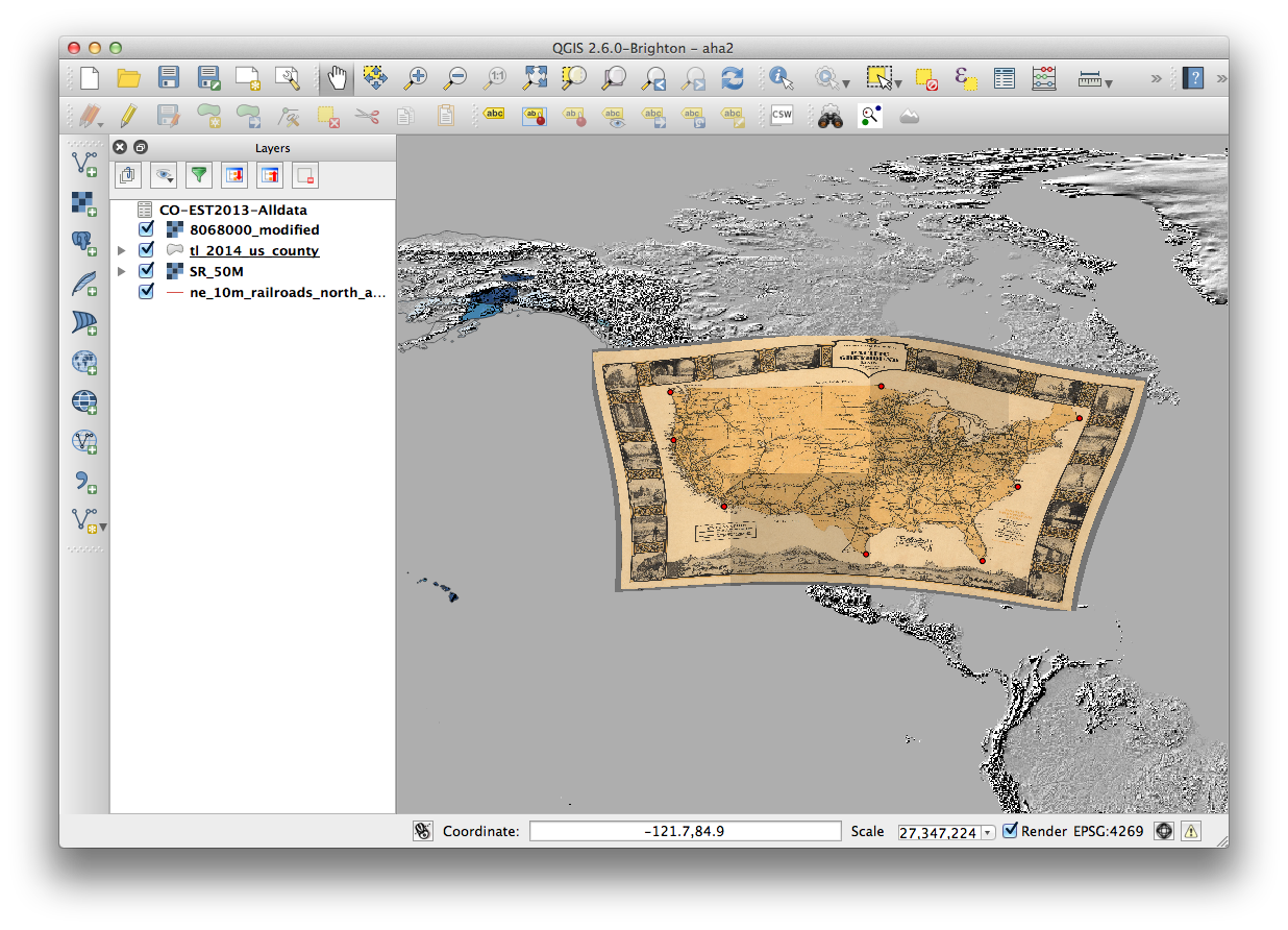 image transparent Using Historic Maps with QGIS