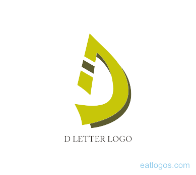 jpg download Modern d letter logo green download