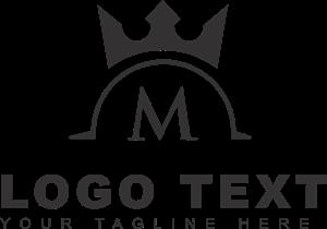graphic transparent Royal letter m Logo Vector