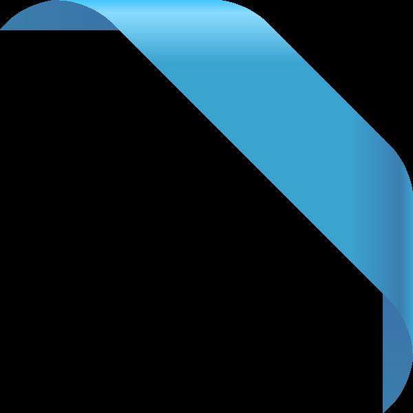 graphic royalty free library Corner ribbon light data. Vector blue dark