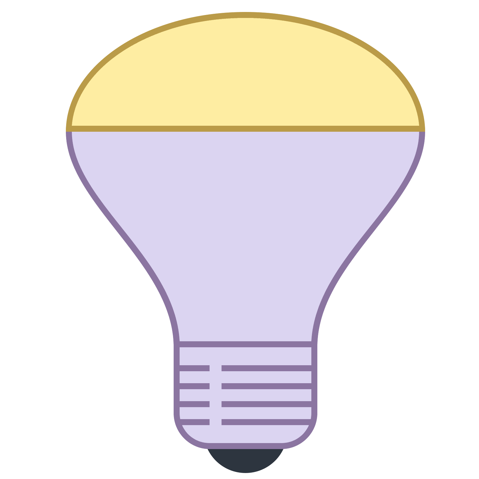 banner royalty free Mirrored Reflector Bulb