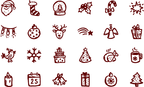 svg free library Merry icons christmas . Vector lights