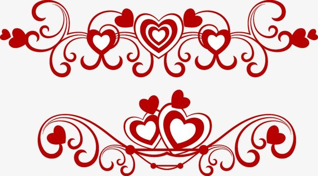 clipart royalty free download Pattern border . Valentine vector love