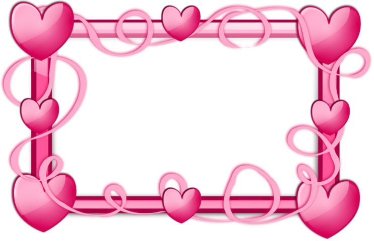 graphic stock Valentine vector frame. Free pink hearts psd