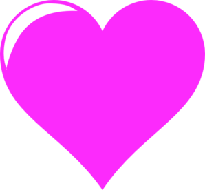 vector library library Tes Hot Pink Love Clip Art at Clker