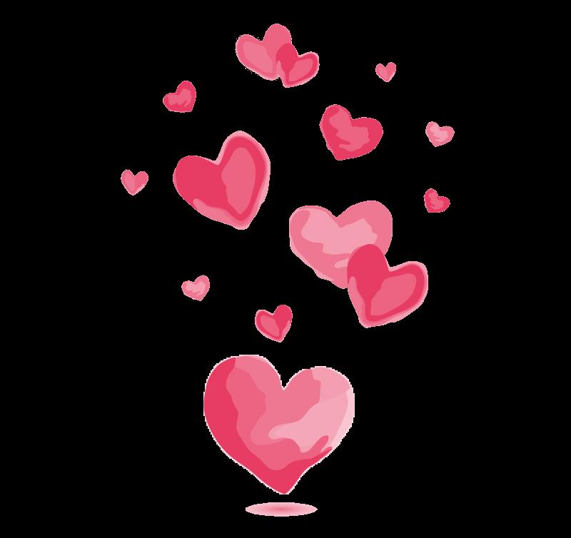 clip royalty free download Watercolor pink love vector material