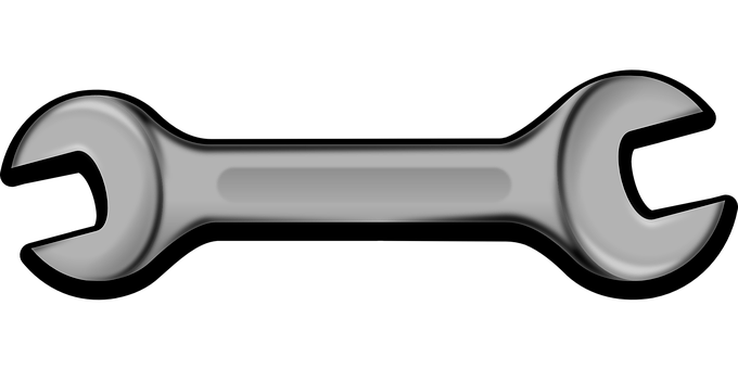banner black and white stock vector mechanics box wrench #108125390