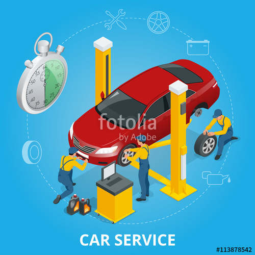 vector library download Car repair service center