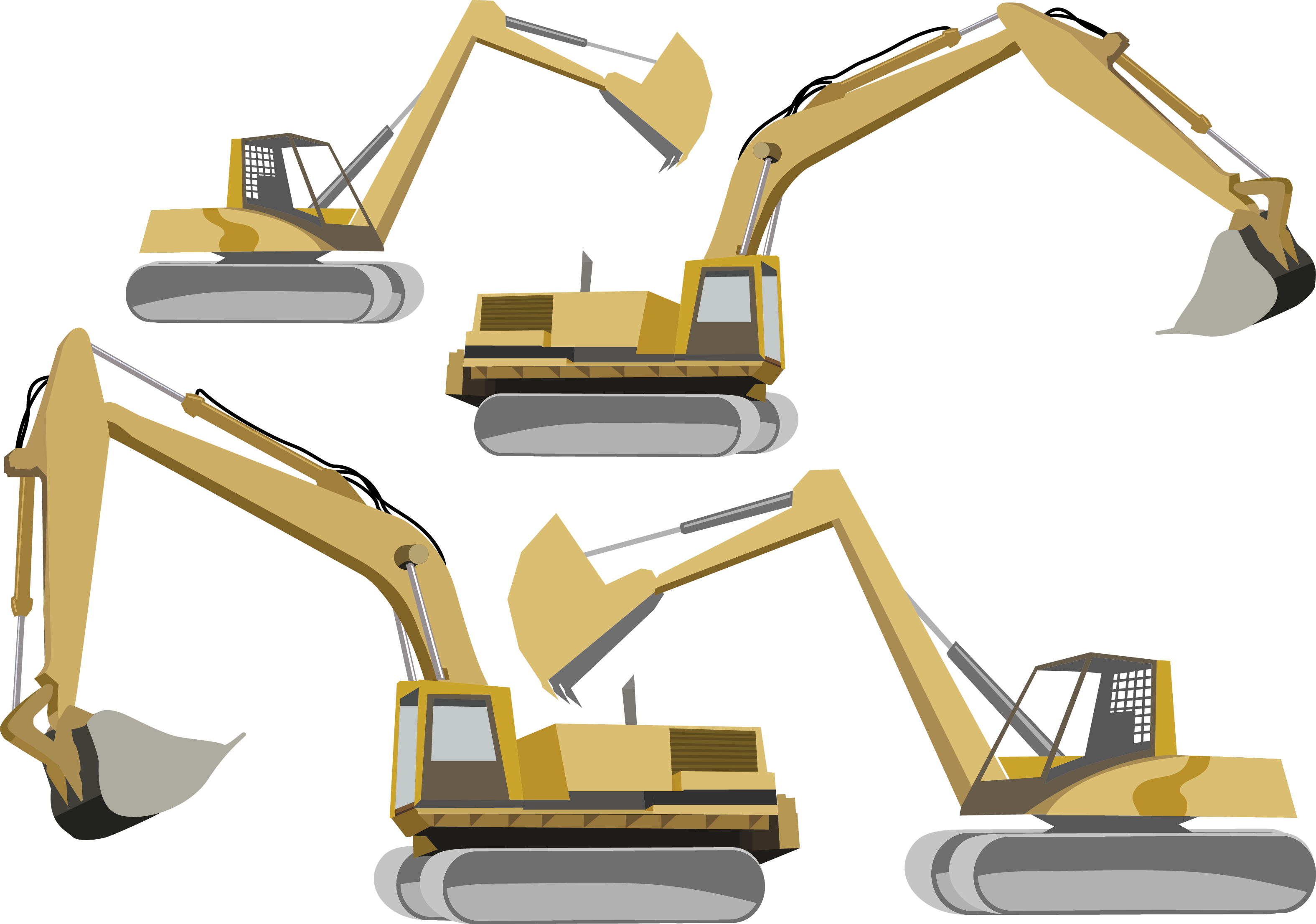 clip art royalty free stock Bulldozer heavy equipment euclidean. Vector machinery excavator